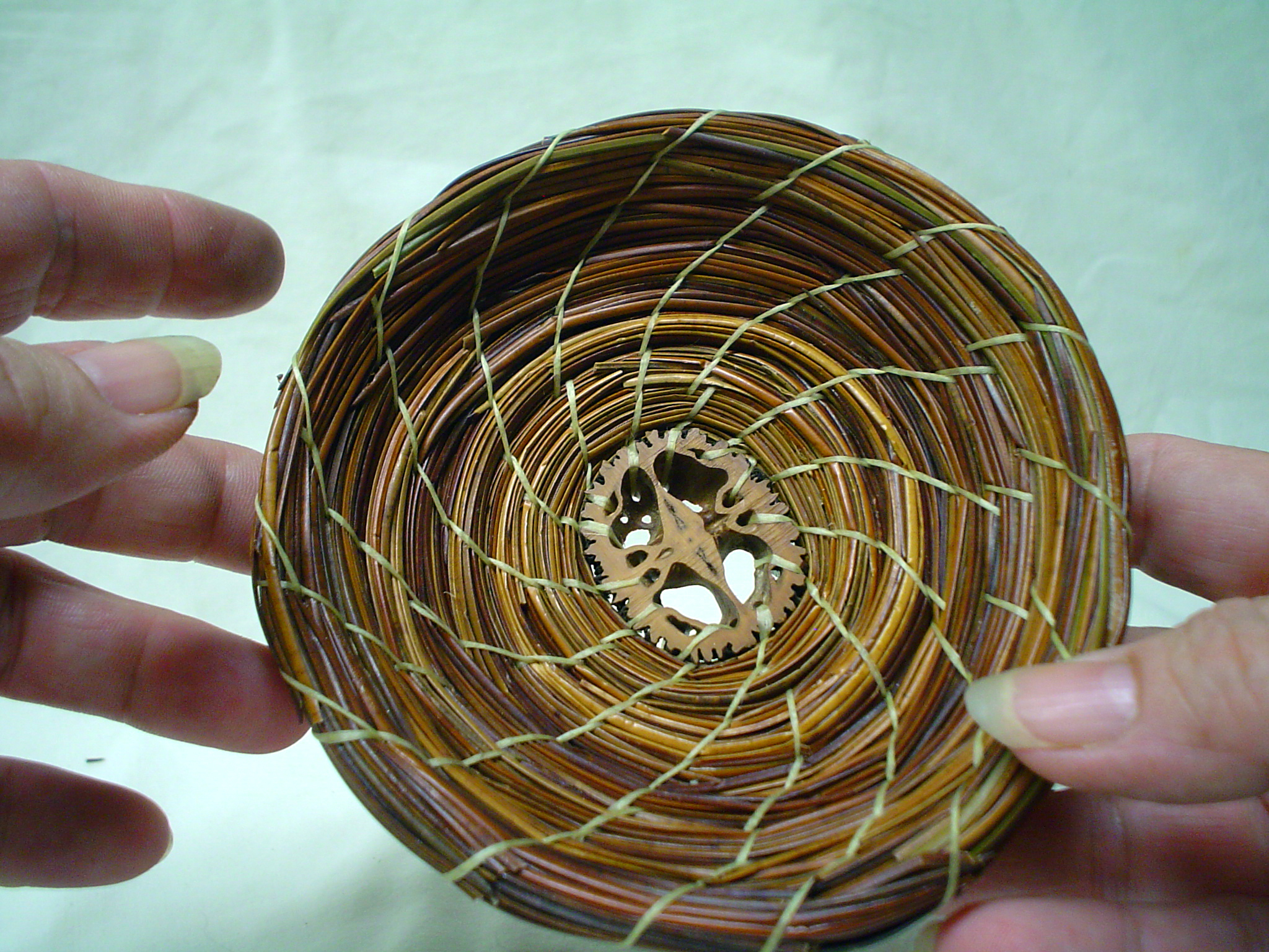 Basketry In Art : Pine needle basket work in calabash july